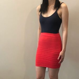 Hot pink bodycon skirt